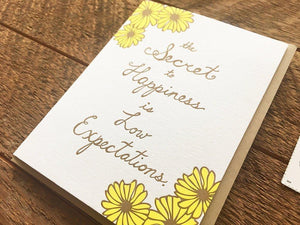 Low Expectations Greeting Card