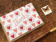 Hearts Thanks Greeting Card