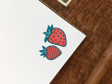 Strawberries Flat Stationery