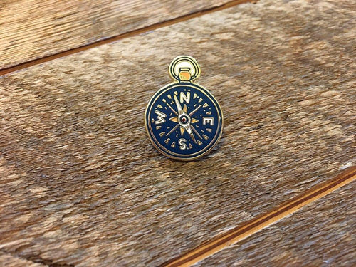 Compass Enamel Pin