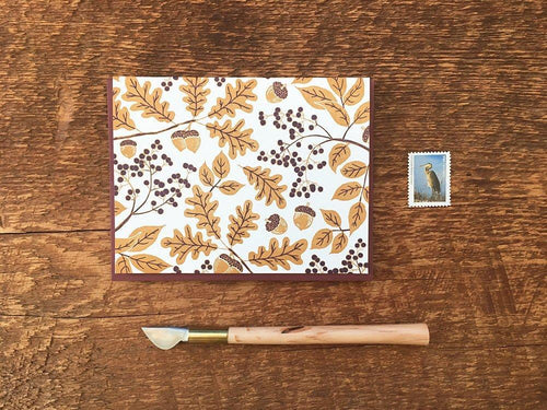 Golden Acorns Greeting Card