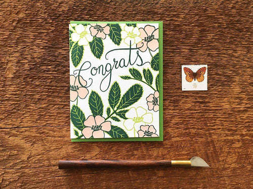 Congrats Flowers Greeting Card