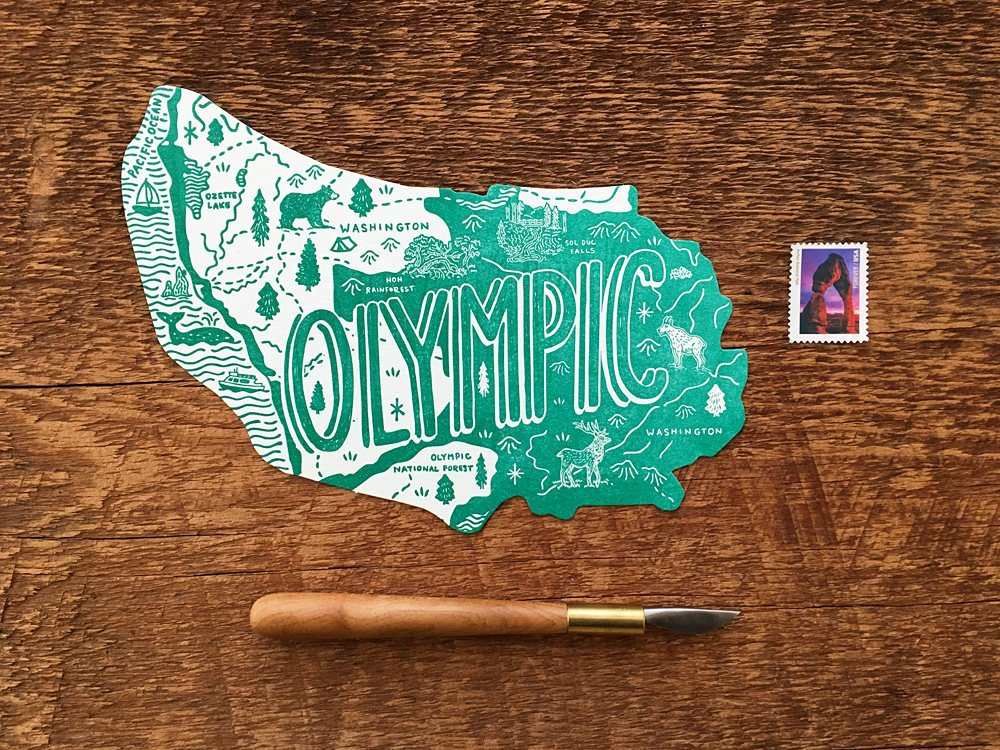 Olympic National Park Postcard