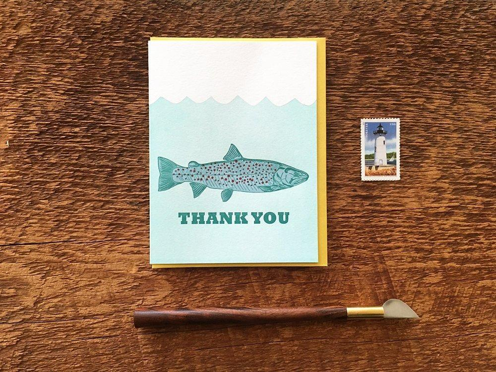 Trout Thank You Greeting Card