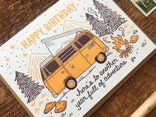 Birthday Camper Greeting Card