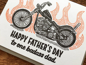 Badass Dad Greeting Card