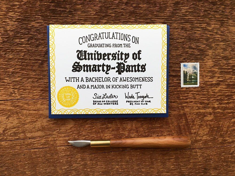 Congrats Smarty-Pants Greeting Card