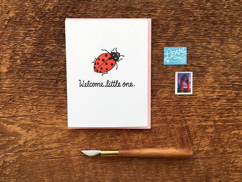 Welcome Lady Bug Greeting Card
