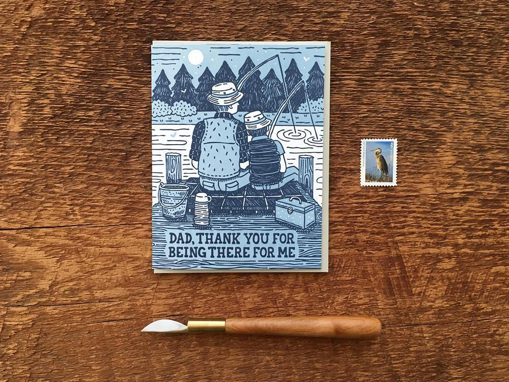 Dad Fishing Greeting Card