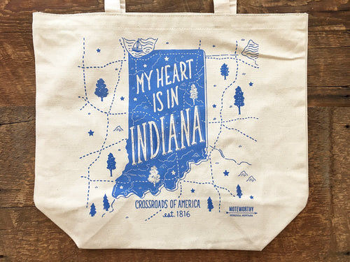 My Heart is in Indiana Tote Bag