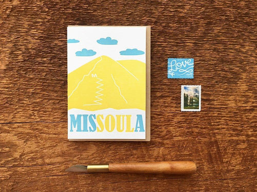 Missoula Montana Greeting Card