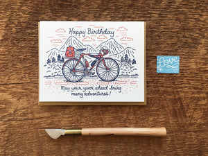 Birthday Bicycle Greeting Card
