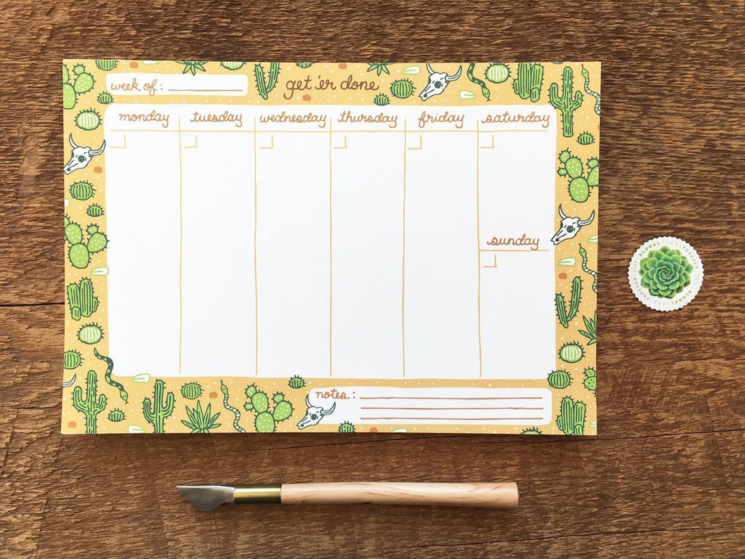 Get 'Er Done Weekly Desk Planner