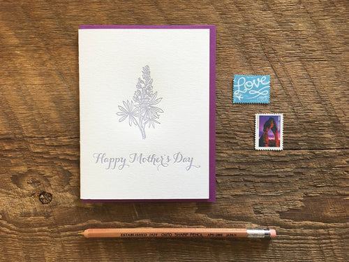 Mom Lupine Greeting Card