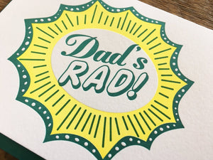 Dad's Rad Greeting Card