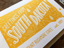 Greetings from South Dakota Card