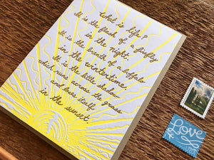 Crowfoot Quote Greeting Card