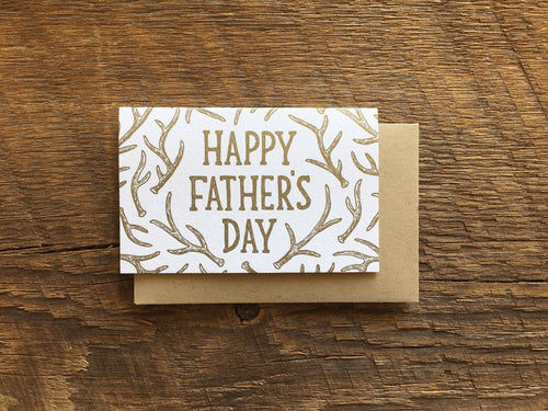 Dad Antlers Enclosure Card