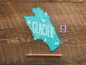 Glacier National Park Postcard
