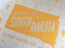 Greetings from South Dakota State Tea Towel