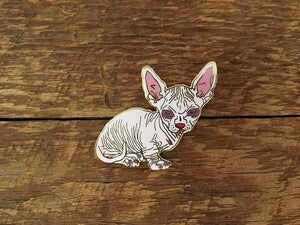 Hairless Cat Enamel Pin