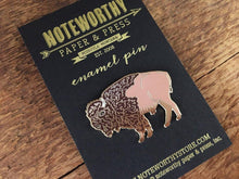Bison Enamel Pin