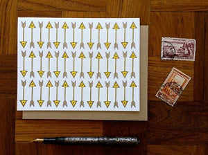 Vertical Arrows Greeting Card