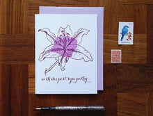 Lily Sympathy Greeting Card