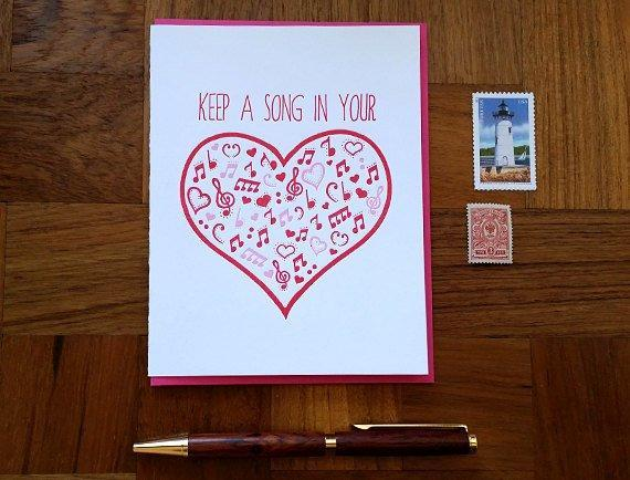 Heart Song Greeting Card