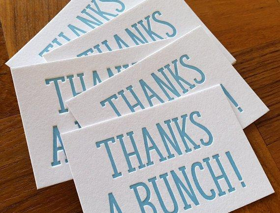 Mini Thanks a Bunch Notes, Set of 8