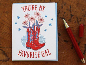 Favorite Gal Greeting Card