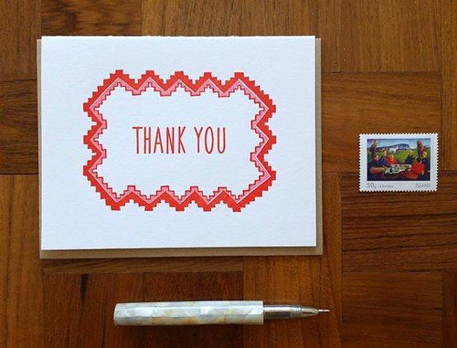 Geometric Thank You Greeting Card