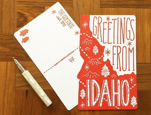 Greetings from Idaho Postcard
