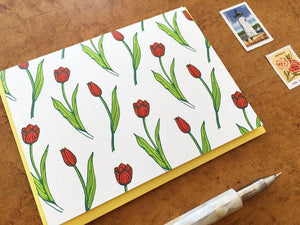 Tulip Pattern Greeting Card