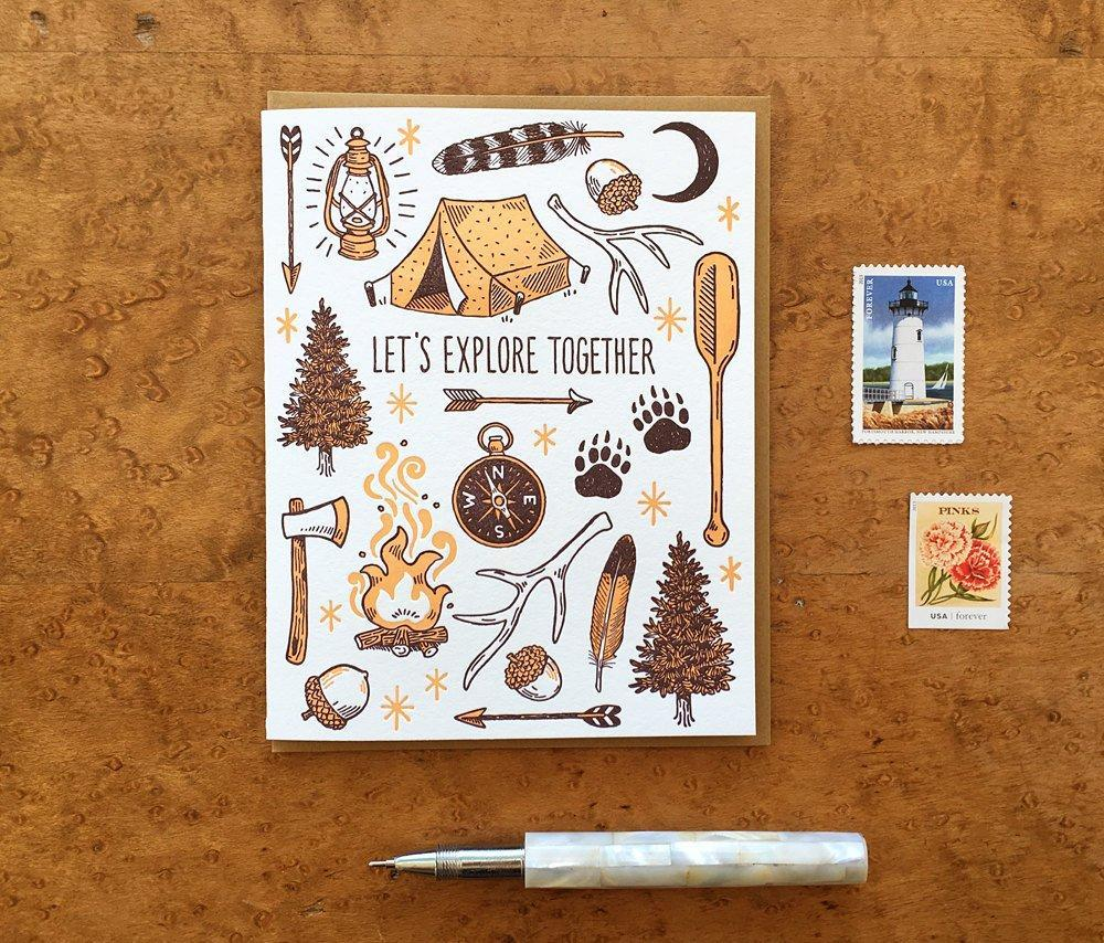 Explore Together Greeting Card