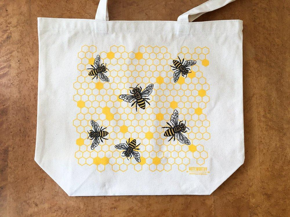 Honey Bees Tote Bag