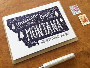 Greetings from Montana