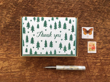 Pine Tree Thank You Greeting Card