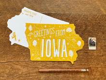 Greetings from Iowa Postcard