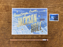 Greetings from Jackson Hole Foil Postcard