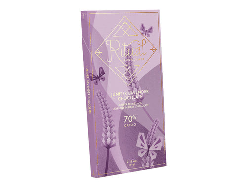 Juniper Lavender 70% Chocolate Bar