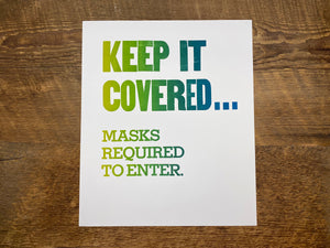 Keep It Covered Poster