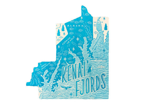 Kenai Fjords National Park Postcard