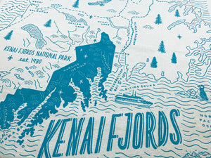Kenai Fjords National Park Tea Towel
