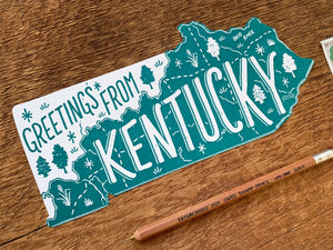 Greetings from Kentucky Postcard