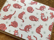 Kitty Cat Pattern Greeting Card