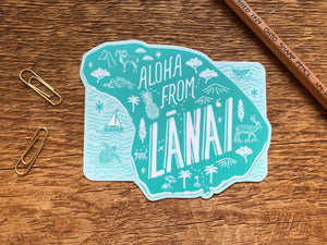 Lanai Island Hawaii Sticker