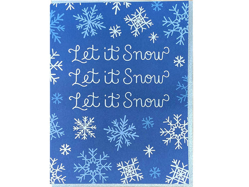 Let It Snowflakes Greeting Card