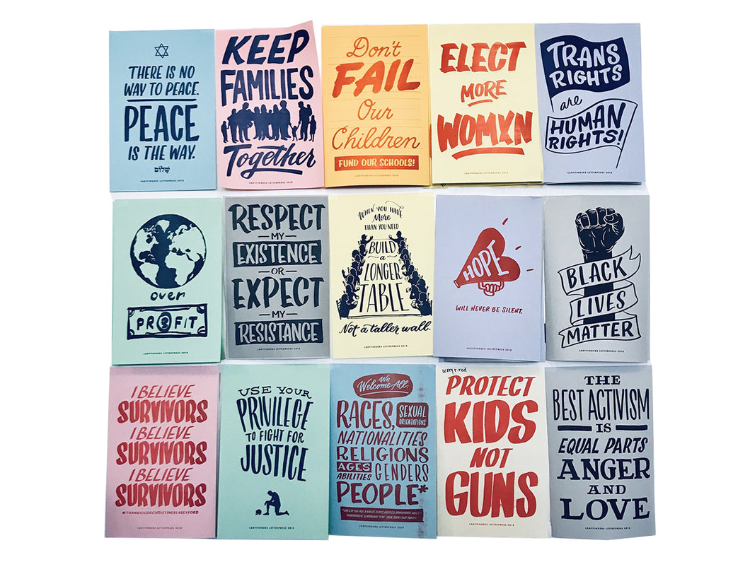 15 Protest Posters, 11x17