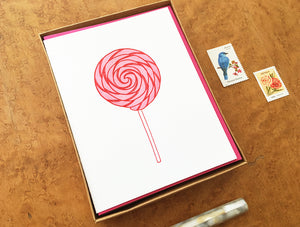 Lollipop Greeting Card